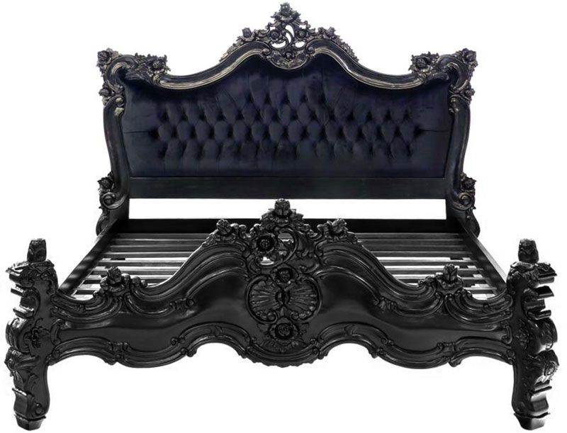 barock bett royal in schwarz moreko gmbh. Black Bedroom Furniture Sets. Home Design Ideas