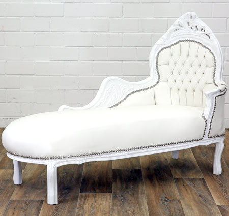 Chaiselongue Sofa weiss