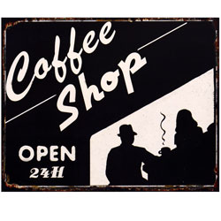 COFFEE SHOP OPEN