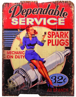Wandschild SPARK PLUGS