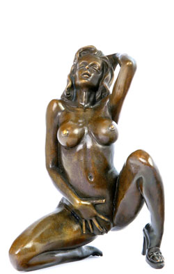 Bronze Lady mit High-Heels