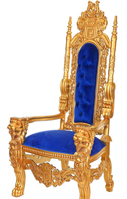 Kingchair royal-blau