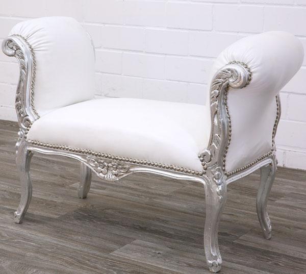 barock sitzbank silber moreko gmbh. Black Bedroom Furniture Sets. Home Design Ideas